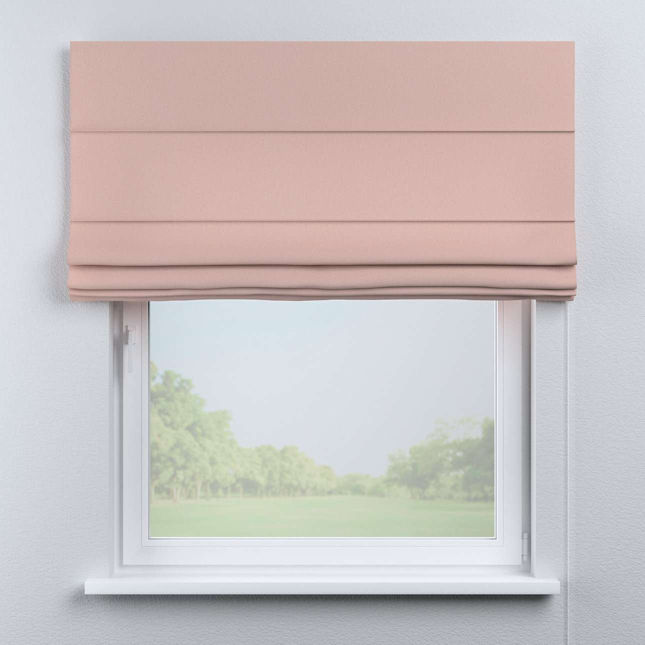 Capri roman blind in collection Woolly, fabric: 142-38
