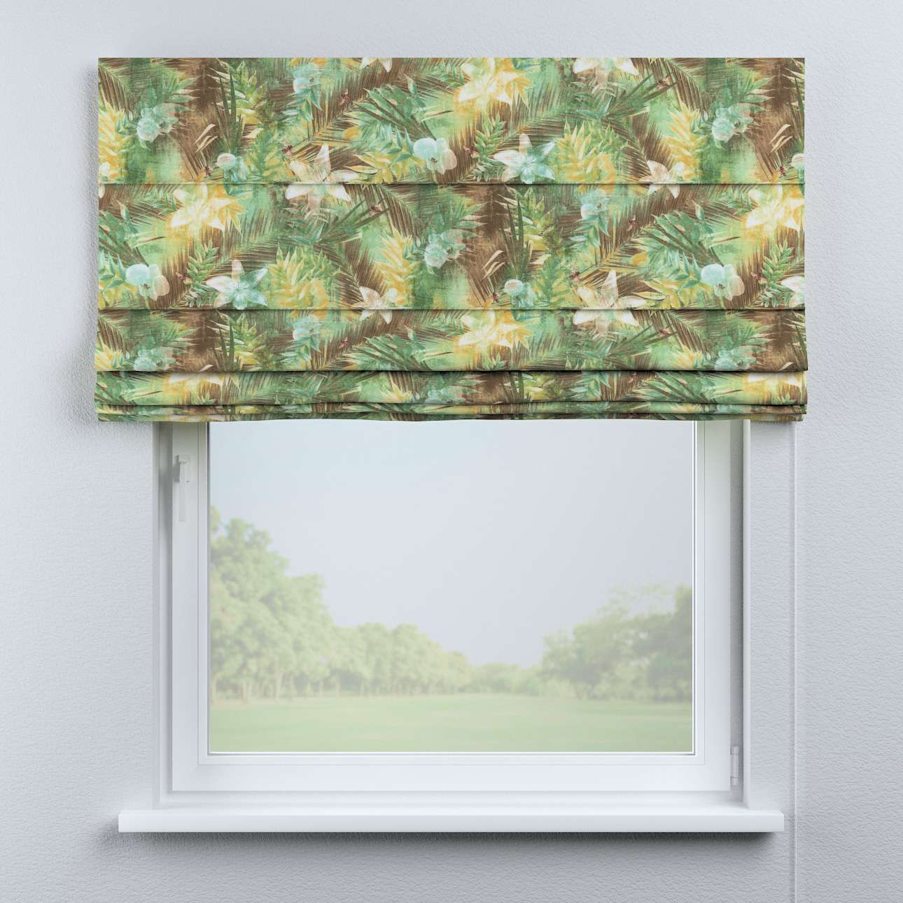 Capri roman blind in collection Tropical Island, fabric: 142-41