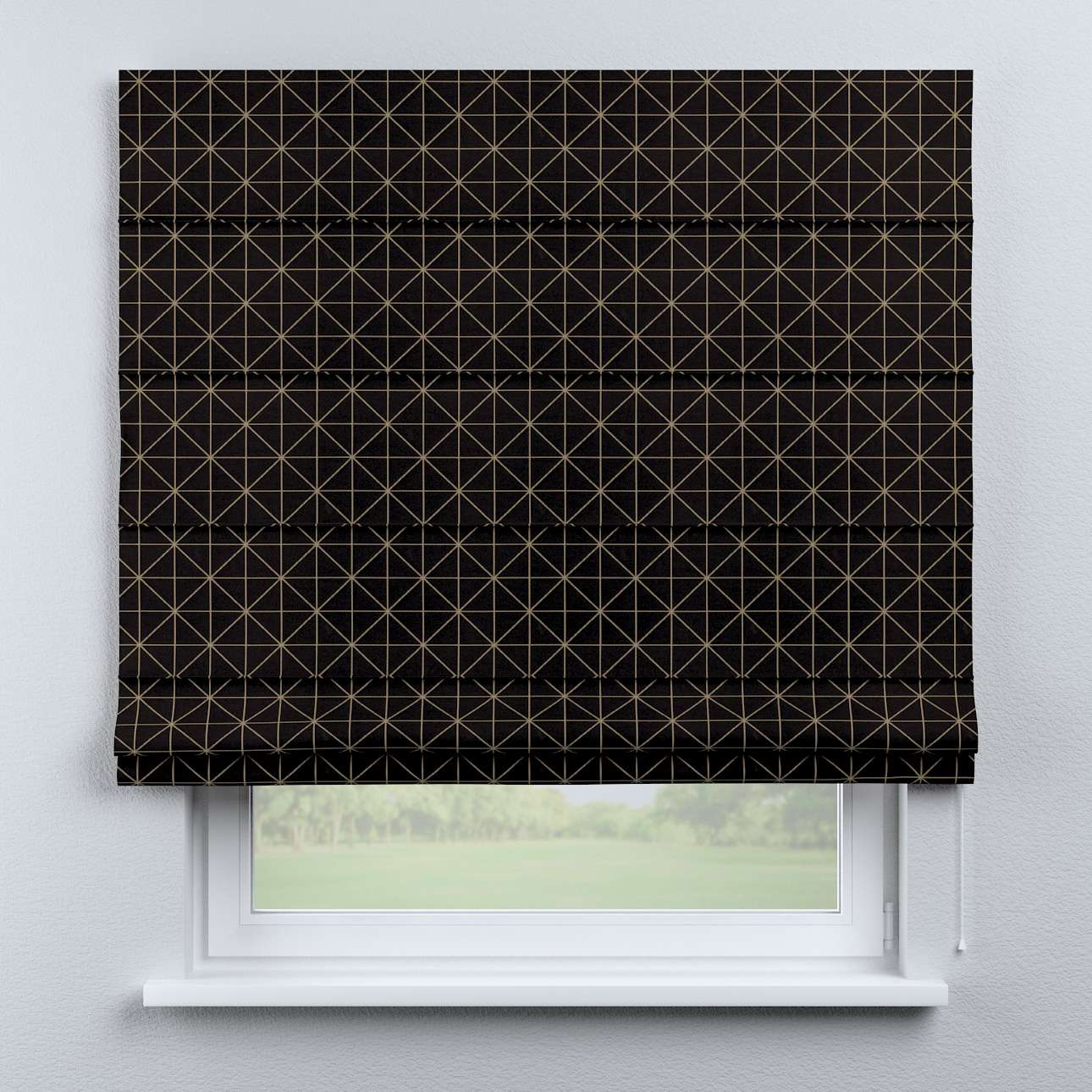 Capri roman blind in collection Black & White, fabric: 142-55