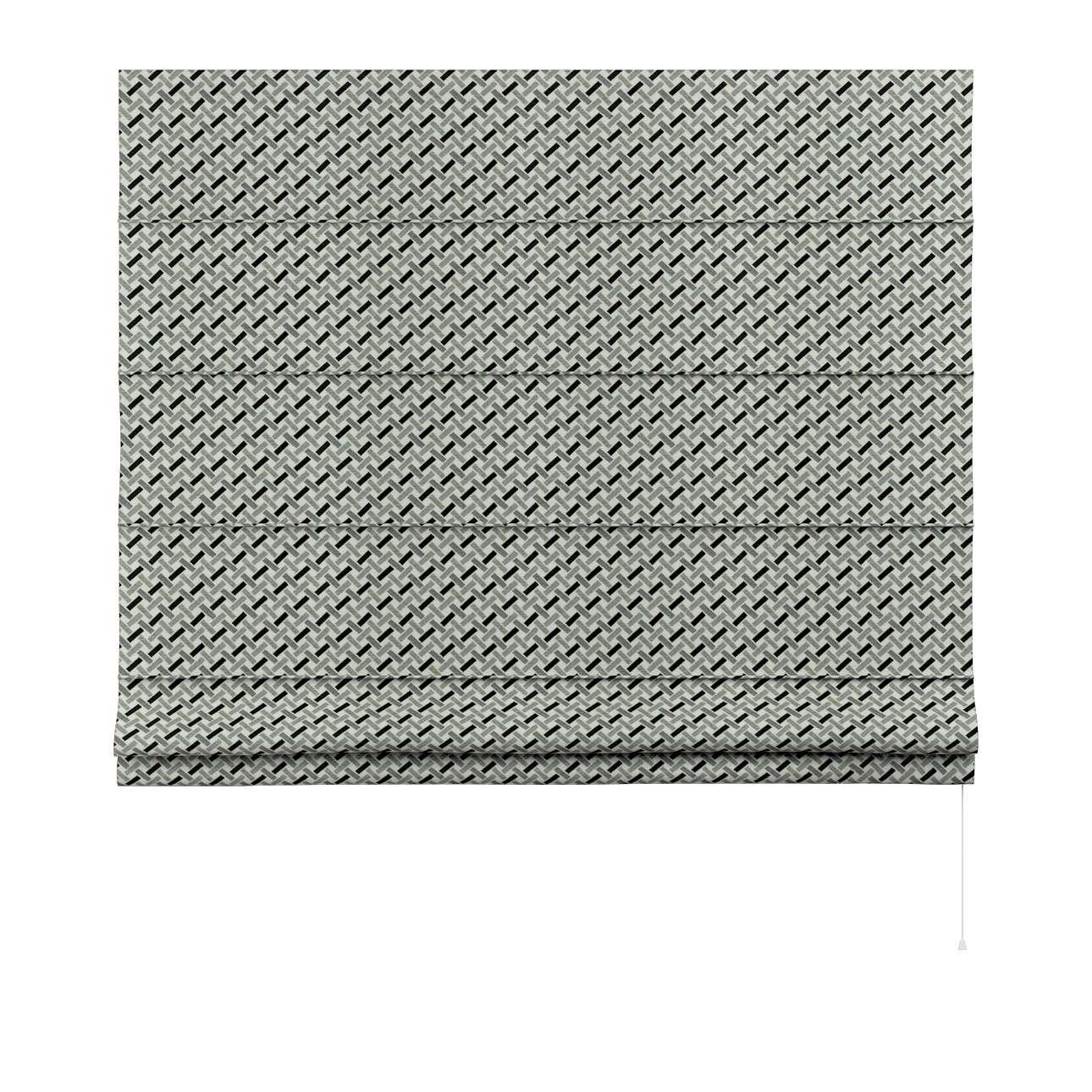 Foldegardin Capri<br/>Uden flæsekant fra kollektionen Black & White, Stof: 142-78