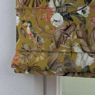 Římská roleta Capri 143-09 květy na hořčicovém podkladu Kolekce Abigail