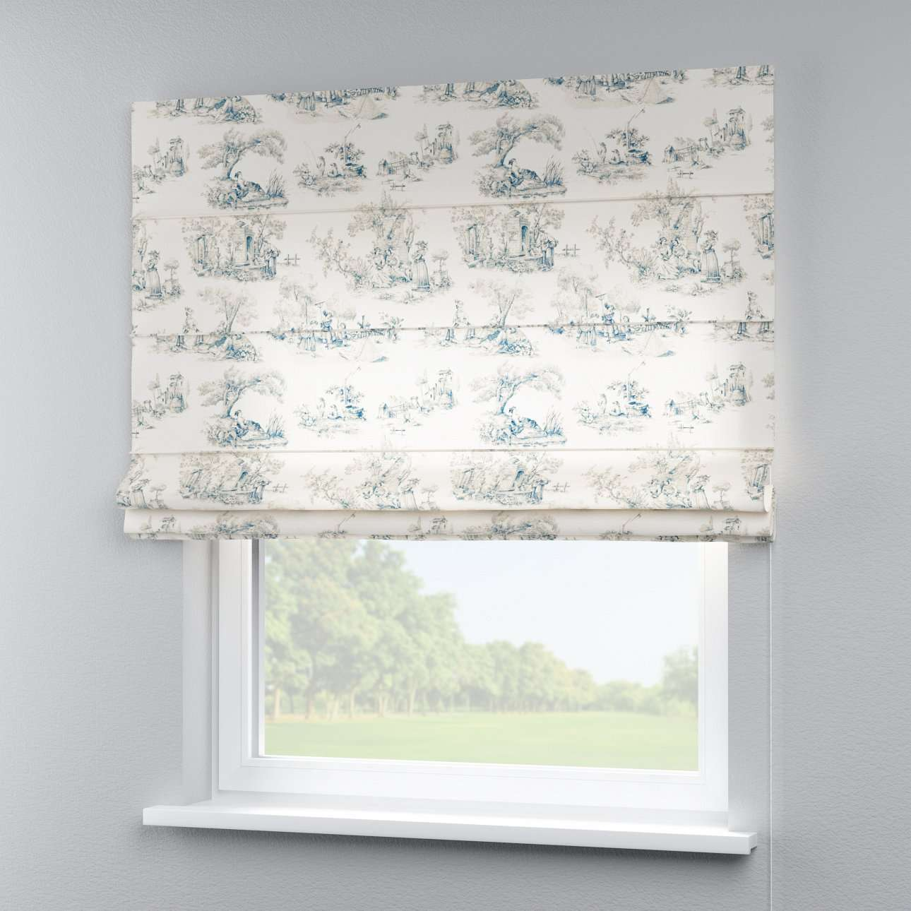 Capri roman blind 80 x 170 cm (31.5 x 67 inch) in collection Avinon, fabric: 132-66
