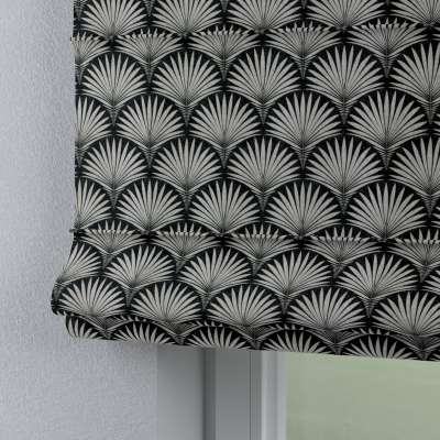 Capri roman blind 143-74 grey patterns on a black background Collection Comics/Geometrical