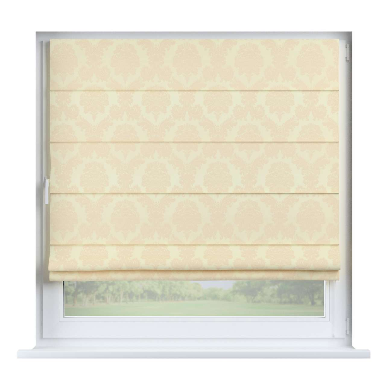 Capri roman blind 80 x 170 cm (31.5 x 67 inch) in collection Damasco, fabric: 613-01
