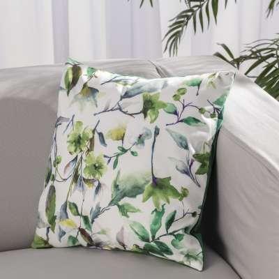 Kinga DUO dekoratyvinės pagalvėlės  704-20 Žalsvi motyvai šviesiame fone Kolekcija Velvetas/Aksomas