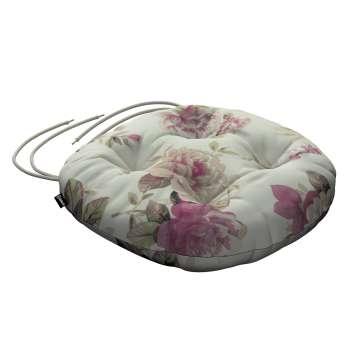 Siedzisko Adam na krzesło fi37x8cm w kolekcji Mirella, tkanina: 141-07