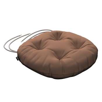 Siedzisko Adam na krzesło fi37x8cm w kolekcji Cotton Panama, tkanina: 702-02