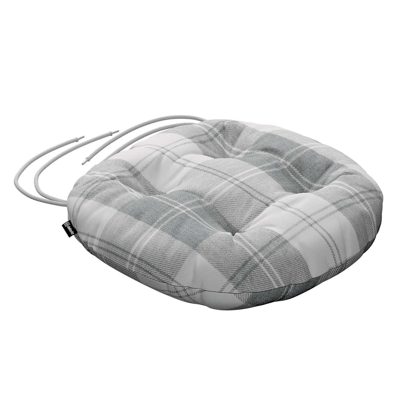 Siedzisko Adam na krzesło fi37x8cm w kolekcji Edinburgh, tkanina: 115-79