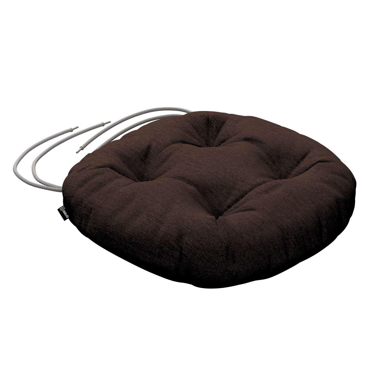 Siedzisko Adam na krzesło fi37x8cm w kolekcji Chenille, tkanina: 702-18