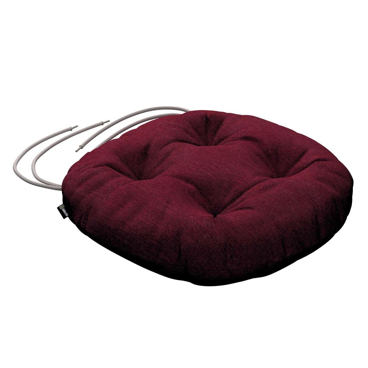 Siedzisko Adam na krzesło fi37x8cm w kolekcji Chenille, tkanina: 702-19