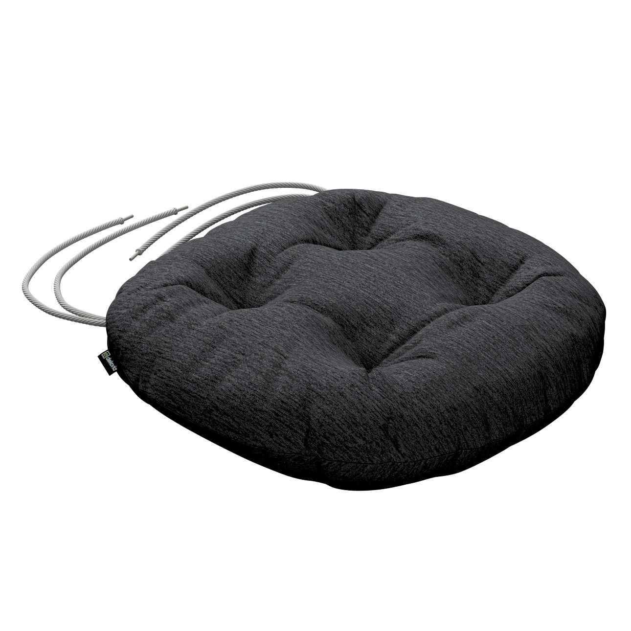 Siedzisko Adam na krzesło fi37x8cm w kolekcji Chenille, tkanina: 702-20