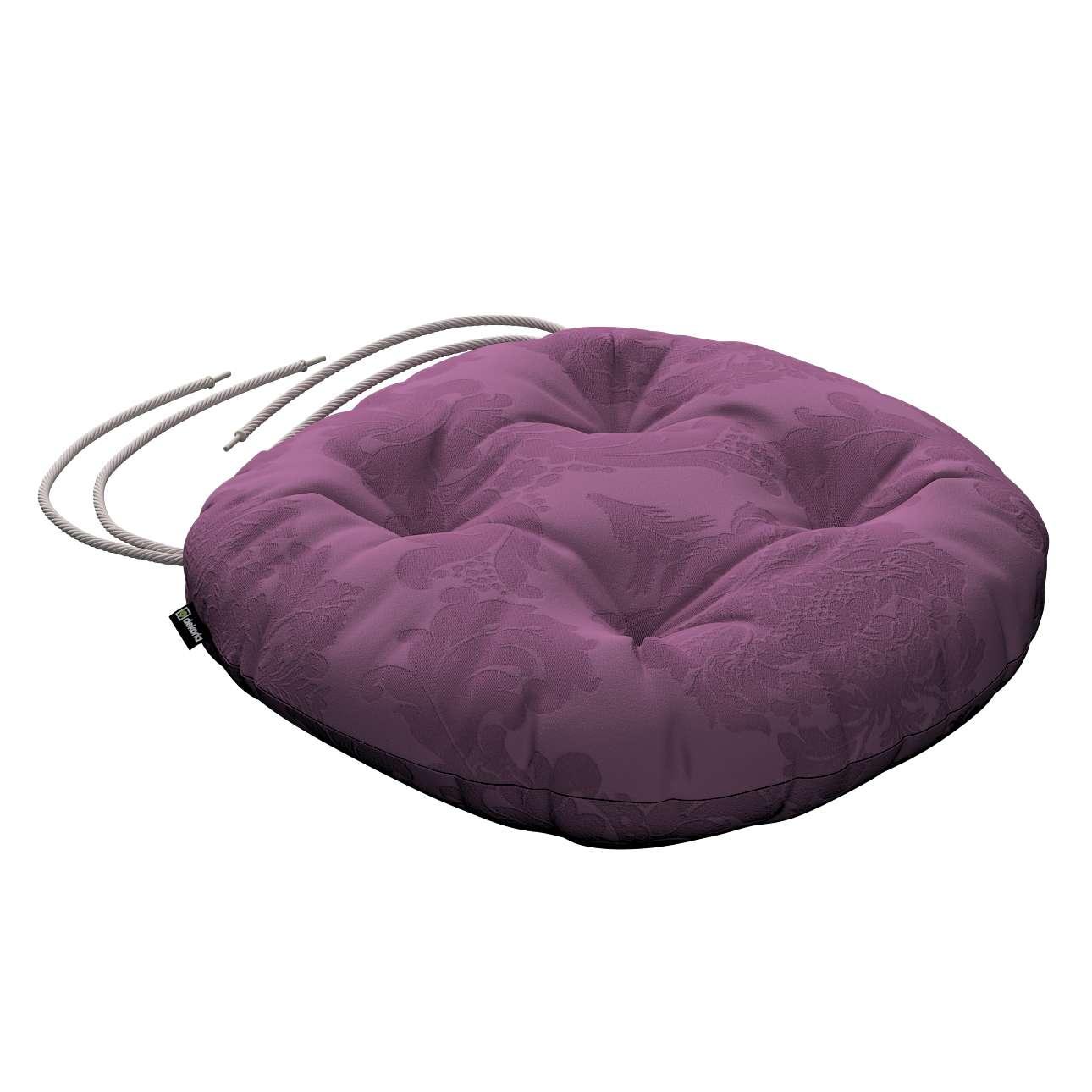 Kėdės pagalvėlė Adam  skersmuo 37x8cm kolekcijoje Damasco, audinys: 613-75