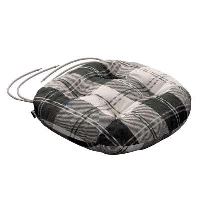 Siedzisko Adam na krzesło 115-74 krata czarno-biała Kolekcja Edinburgh