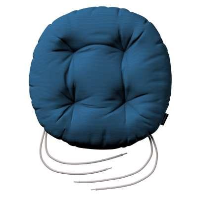 Kerek ülőpárna Adam rögzítőzsinórral 702-30 ultramarin kék Méteráru Cotton Panama Bútorszövet