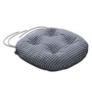 Siedzisko Adam na krzesło fi37x8cm w kolekcji Quadro, tkanina: 136-00