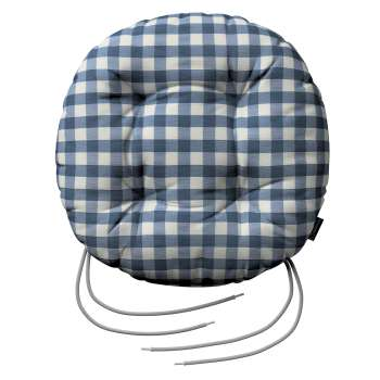 Siedzisko Adam na krzesło fi37x8cm w kolekcji Quadro, tkanina: 136-01
