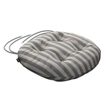 Siedzisko Adam na krzesło fi37x8cm w kolekcji Quadro, tkanina: 136-02