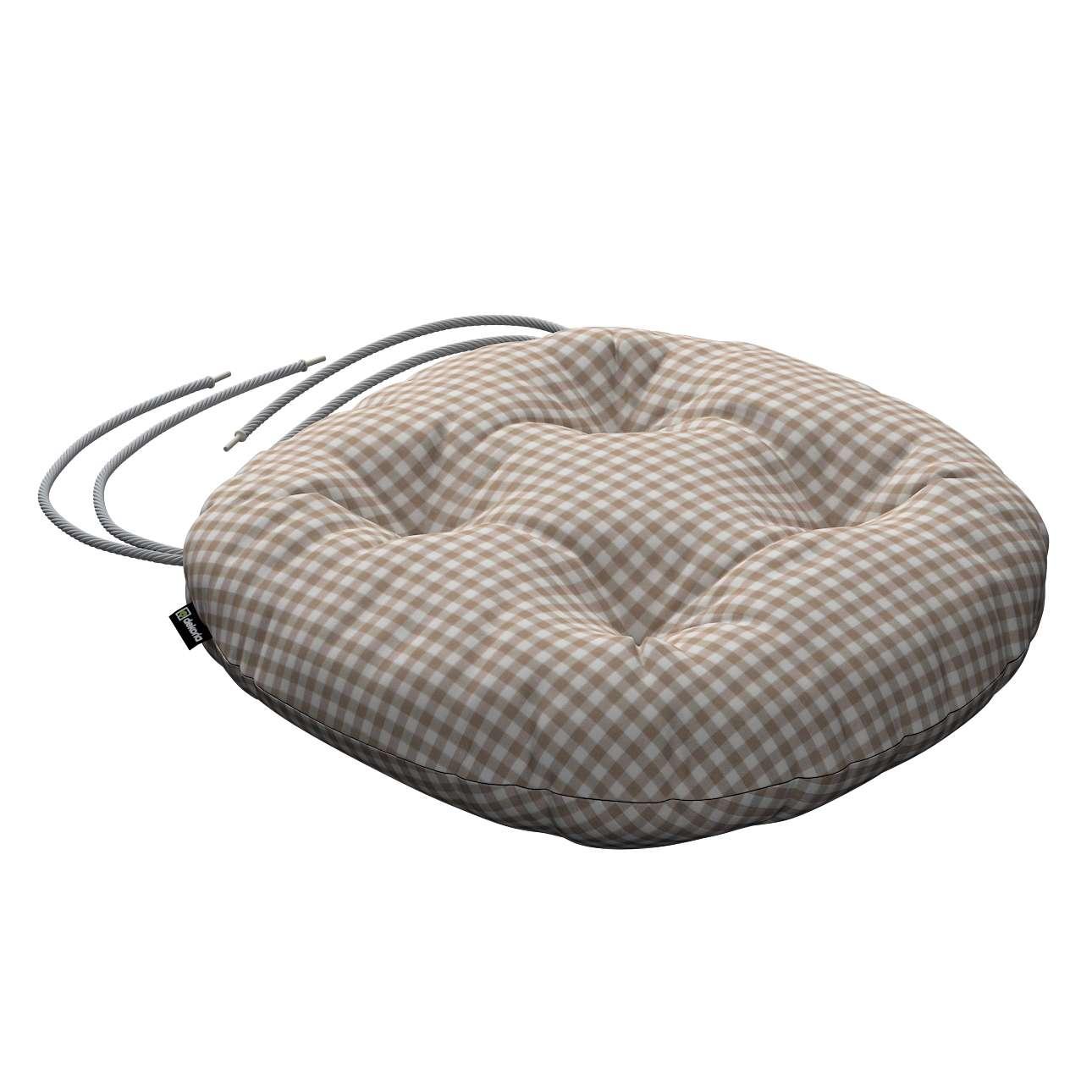Siedzisko Adam na krzesło fi37x8cm w kolekcji Quadro, tkanina: 136-05