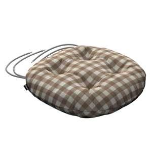 Siedzisko Adam na krzesło fi37x8cm w kolekcji Quadro, tkanina: 136-06