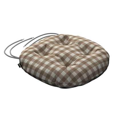 Siedzisko Adam na krzesło 136-06 beżowo biała kratka (1,5x1,5cm) Kolekcja Quadro