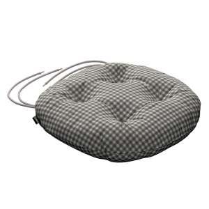 Siedzisko Adam na krzesło fi37x8cm w kolekcji Quadro, tkanina: 136-10