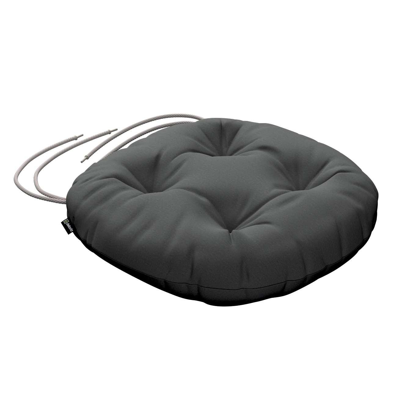 Kėdės pagalvėlė Adam  skersmuo 37x8cm kolekcijoje Quadro, audinys: 136-14