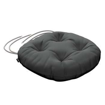 Siedzisko Adam na krzesło fi37x8cm w kolekcji Quadro, tkanina: 136-14