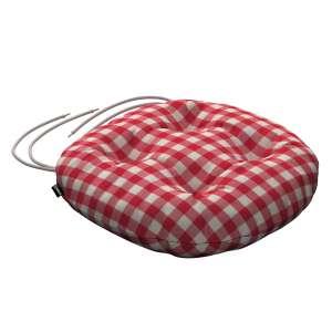 Siedzisko Adam na krzesło fi37x8cm w kolekcji Quadro, tkanina: 136-16