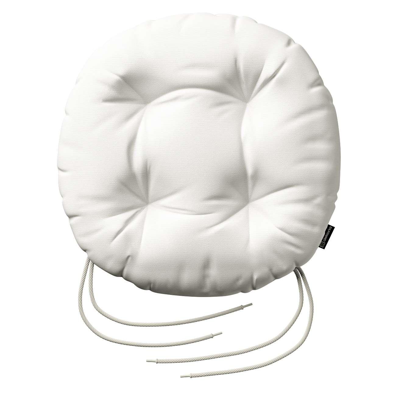 Kėdės pagalvėlė Adam  skersmuo 37x8cm kolekcijoje Cotton Panama, audinys: 702-34