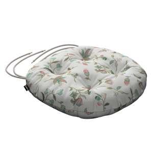 Siedzisko Adam na krzesło fi37x8cm w kolekcji Londres, tkanina: 122-02