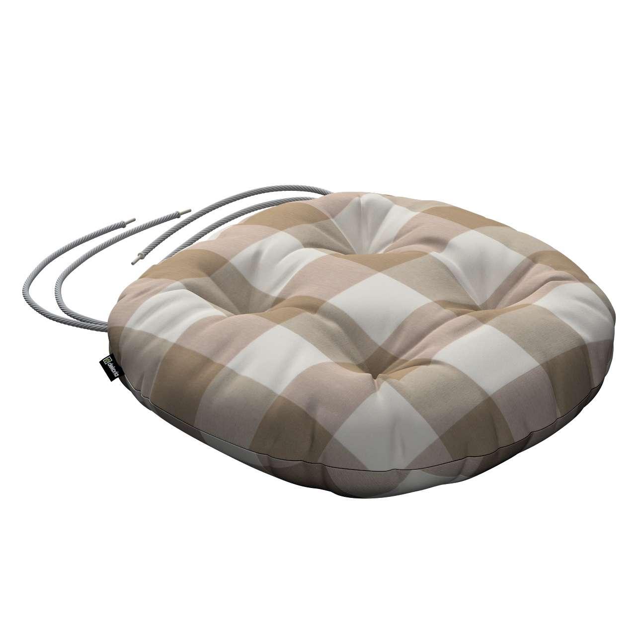 Kėdės pagalvėlė Adam  skersmuo 37x8cm kolekcijoje Quadro, audinys: 136-08