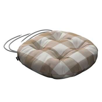 Siedzisko Adam na krzesło fi37x8cm w kolekcji Quadro, tkanina: 136-08