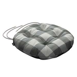 Siedzisko Adam na krzesło fi37x8cm w kolekcji Quadro, tkanina: 136-13