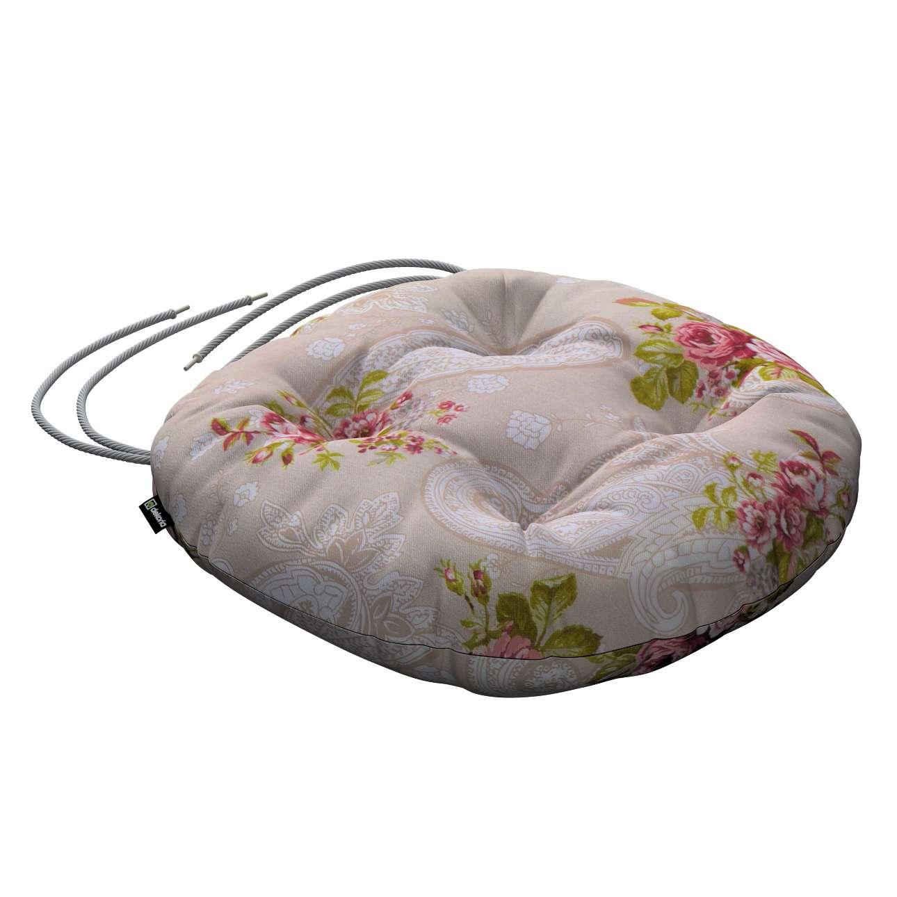 Kėdės pagalvėlė Adam  skersmuo 37x8cm kolekcijoje Flowers, audinys: 311-15