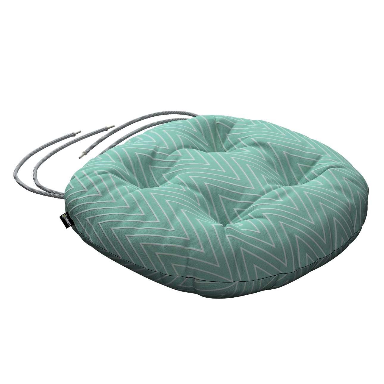 Siedzisko Adam na krzesło fi37x8cm w kolekcji Brooklyn, tkanina: 137-90