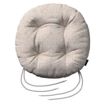 Kėdės pagalvėlė Adam  skersmuo 37x8cm kolekcijoje Flowers, audinys: 140-39