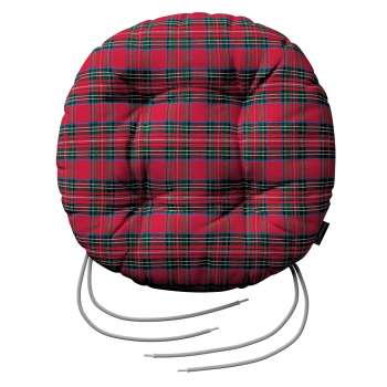Siedzisko Adam na krzesło fi37x8cm w kolekcji Bristol, tkanina: 126-29