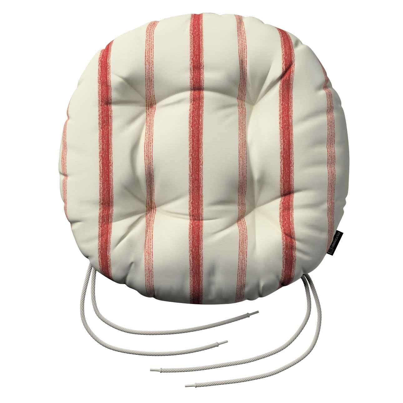 Siedzisko Adam na krzesło fi37x8cm w kolekcji Avinon, tkanina: 129-15