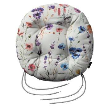 Adam seat pad with ties in collection Flowers, fabric: 141-53