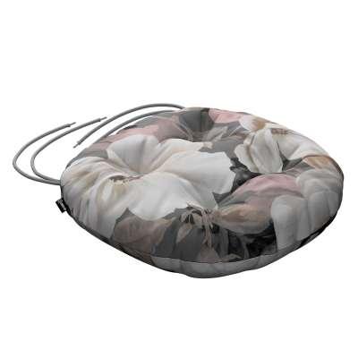 Kerek ülőpárna Adam rögzítőzsinórral 142-13 szürke-rózsaszín Méteráru Gardenia Lakástextil