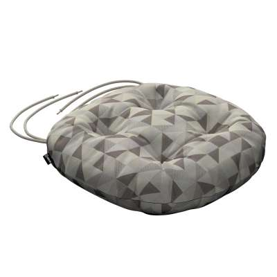 Adam seat pad with ties 142-85 beige- grey Collection SALE