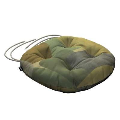 Siedzisko Adam na krzesło 143-72 geometryczne wzory w zielono-brązowej kolorystyce Kolekcja Vintage 70's