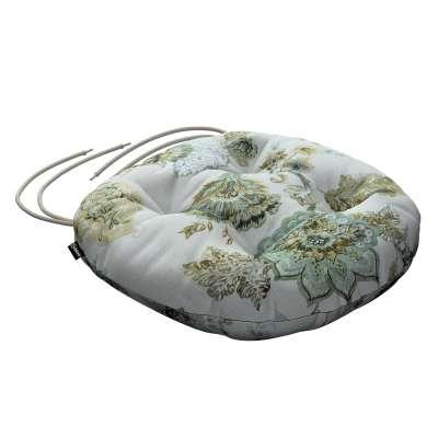 Siedzisko Adam na krzesło 143-67 kwiaty na beżowo - szarym tle Kolekcja Flowers