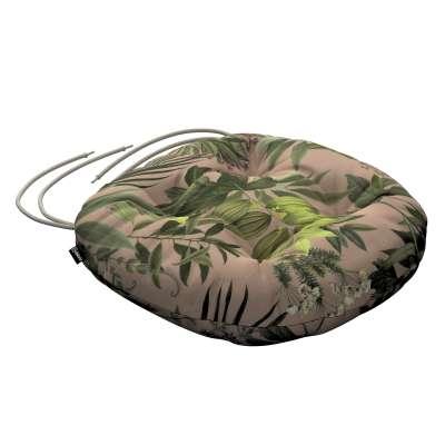 Siedzisko Adam na krzesło 143-71 zielona roślinność na brudnoróżowym tle Kolekcja Tropical Island