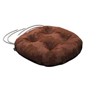 Siedzisko Adam na krzesło fi37x8cm w kolekcji Damasco, tkanina: 613-88