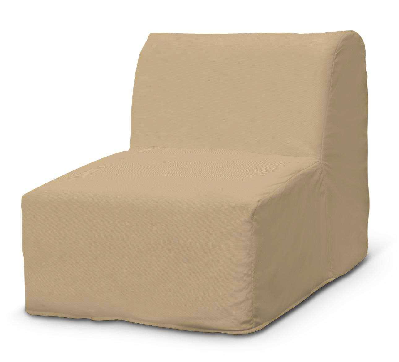 Pokrowiec na fotel Lycksele prosty fotel Lycksele w kolekcji Cotton Panama, tkanina: 702-01
