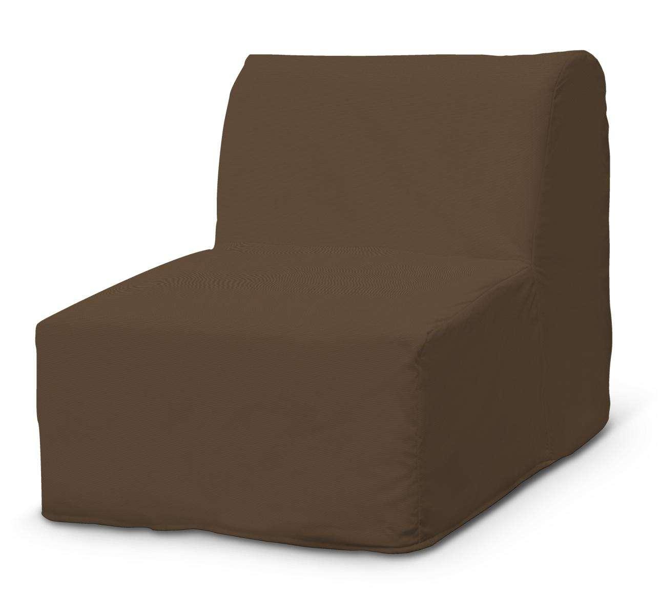 Pokrowiec na fotel Lycksele prosty w kolekcji Cotton Panama, tkanina: 702-02