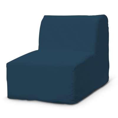 Lycksele fotelio užvalkalas 702-30 tamsiai mėlyna Kolekcija Cotton Panama