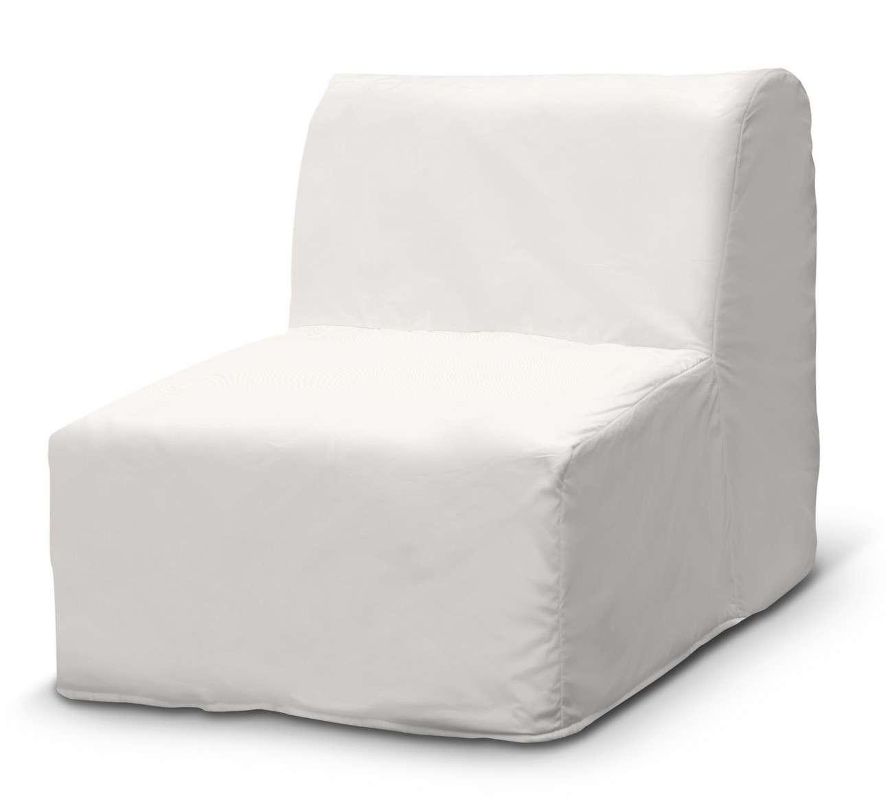 Pokrowiec na fotel Lycksele prosty fotel Lycksele w kolekcji Cotton Panama, tkanina: 702-34