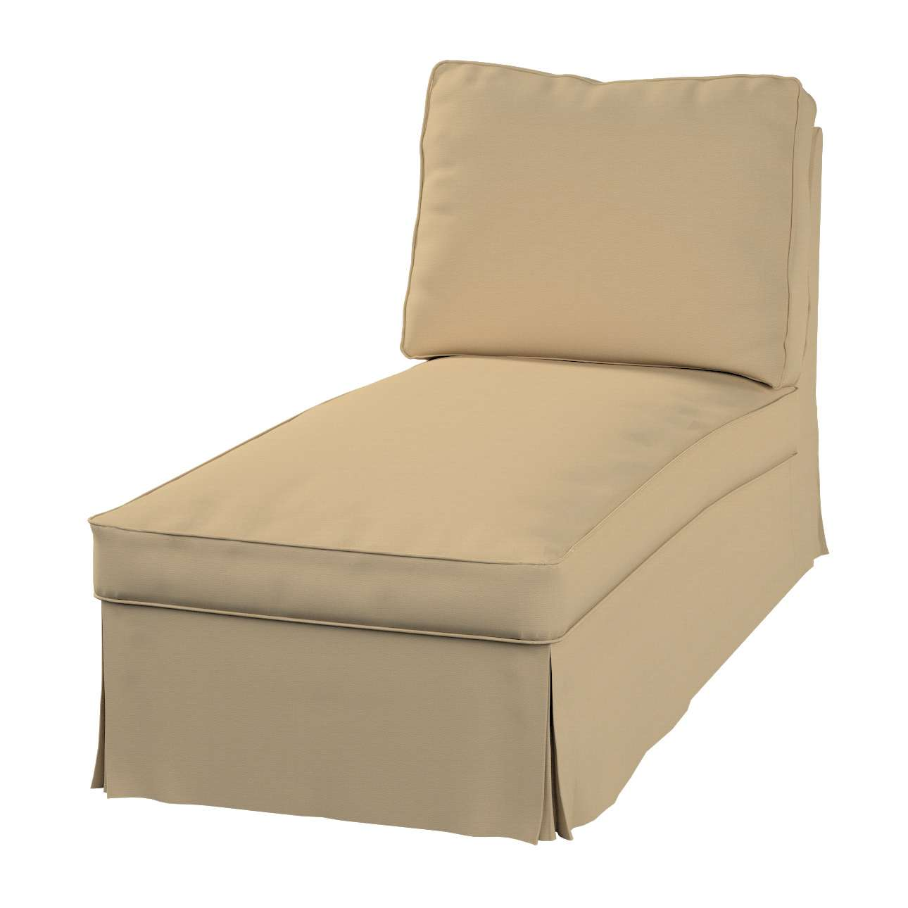 Bezug für Ektorp Recamiere ohne Armlehne, neues Modell von der Kollektion Cotton Panama, Stoff: 702-01